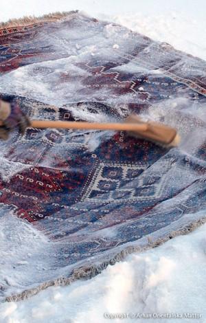 Fräscha upp din matta i snö